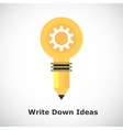 Idea concept on gradient background vector image vector image