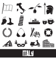 italy country theme symbols and icons set eps10 vector image vector image
