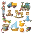 Kids Toys Icon Set vector image