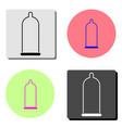 latex condom flat icon vector image