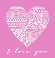 love you carved heart vector image vector image