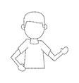 man avatar faceless vector image vector image