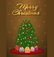 merry christmas design of greeting card with vector image vector image