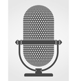 Microphone Silhouette vector image vector image