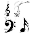 Musical Designs Set vector image vector image