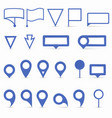 navigation pins set flat on white vector image