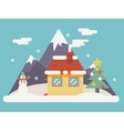 New Year Landscape Christmas Accessories Icons vector image vector image
