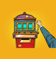 one-armed bandit slot machine vector image