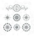 orientation antique compas in vintage style vector image vector image