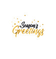 origami gold lettering of season s greetings vector image vector image