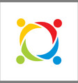 partnershippeople teamworkcommunity people logo vector image vector image