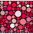Pattern with random circles vector image vector image