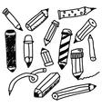 Pencils sketch collection vector image vector image