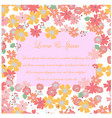 pink spring flower garden wedding card seamless vector image vector image