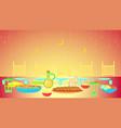 ramadan kareem iftar party vector image vector image