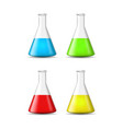 realistic detailed 3d glass chemical laboratory vector image vector image