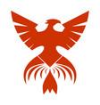 red phoenix symbol vector image vector image