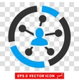 Relations Diagram Eps Icon vector image vector image