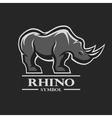 Rhino symbol logo and other design vector image vector image