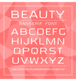 Sanserif font in thin line style vector image vector image