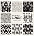 Seamless Black And White Pattern Collection vector image