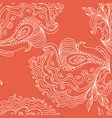 seamless hand - drawn pattern vector image vector image