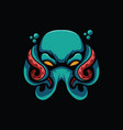 spooky octopus design vector image vector image