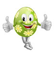 thumbs up cartoon easter egg man vector image vector image