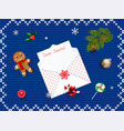 top view with space for your xmas wishes vector image