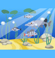 underwater world a reservoir animals and nature vector image vector image