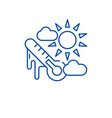 weather climate line icon concept weather climate vector image vector image