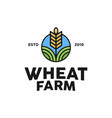 wheat farm logo vector image