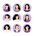 women faceless avatars vector image vector image