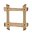 Wooden signposts vector image vector image