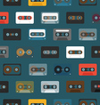 Vintage analogue music recordable cassettes vector image