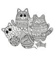 set of boho cats vector image