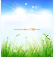 background with a blue sky vector image