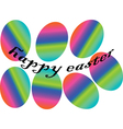 eastern eggs in rainbow colors vector image