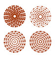 abstract circle shapes with dashed lines vector image vector image