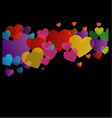 Background with colorful hearts vector image vector image