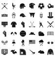 baseball bat icons set simple style vector image vector image