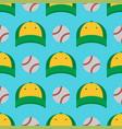 baseball sport game hats and balls vector image vector image
