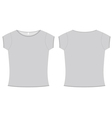 basic ladies tshirt template vector image vector image