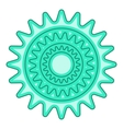 Bicycle sprocket icon cartoon style vector image vector image