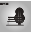 black and white style icon bench tree vector image vector image