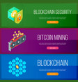 blockchain and cryptocurrency banners set vector image vector image