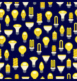 bright light bulbs seamless pattern vector image vector image