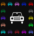 car icon sign Lots of colorful symbols for your vector image