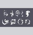 cartoon smoke sprite set vector image