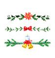 christmas bells watercolor vector image vector image